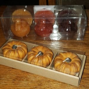 2 nwt fall candle sets